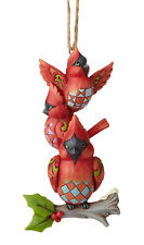 Enesco Jim Shore Heartwood Creek Stacked Cardinals Ornament Nib Item# 6001517