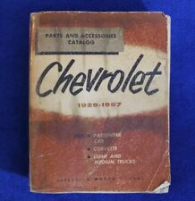 Vintage 1929 - 1957 Chevrolet Parts and Accessories Catalog Book Auto Truck (Fits: Truck)