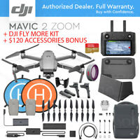 DJI MAVIC 2 ZOOM w/ SMART REMOTE CONTROLLER + FLY MORE KIT + ACCESSORIES COMBO