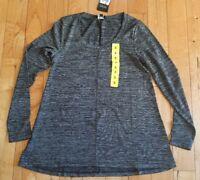 NWT Women's Black Melange JONES NEW YORK L/S Sweater Top Size Small S
