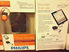 Philips Sync & charge retractable 30-pin Cable usb for Apple iPod iPad iphone.