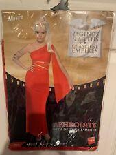 NWOT Smiffy's Aphrodite Greek Goddess Costume Adult Size Medium 10-12 US Red