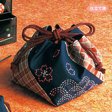 Japan Embroidery  SASHIKO KIT OLYMPUS KINTYAKU BAG with thread Needle
