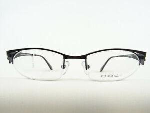 Schwarze Damenbrille ausgefallene Halbrand Brillenfassung leicht preiswert Gr. M