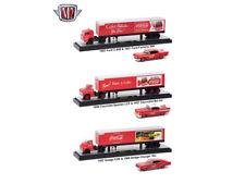 "Auto Haulers ""Coca-Cola"" Release, 3 Trucks Set 1/64 Diecast Models by M2 Machine"