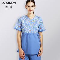 ANNO Hospital Nurse Uniform Women with Adjust Waist Medical Cloth Body Scrubs