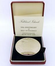 1985 Falkland Islands 100 Years Self Sufficiency 5 Ounce Silver Proof