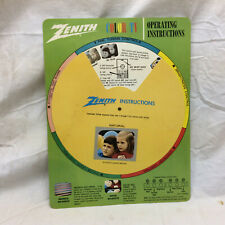 Vintage Advertising Zenith Color Tv Operating Instructions