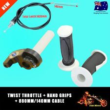 TWIST THROTTLE CABLE FREE Grips Dirt Pit bike,atomik pitpro lei tdr orion White