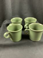 Fiestaware Sage Green set of 4 Tom and Jerry Coffee Mug Cup Ring Handle 10 oz
