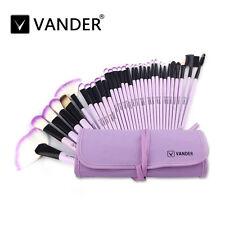 Vander 32pcs Pro Purple Soft  Eyebrow Shadow Makeup Brush Set Kit + Pouch Bag