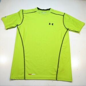 UNDER ARMOUR HEATGEAR FITTED NEON ATHLETIC JERSEY TEE T SHIRT Mens S Green