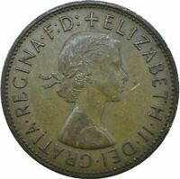 1967 ONE PENNY OF ELIZABETH II. /One Penny Bronze    #WT20383