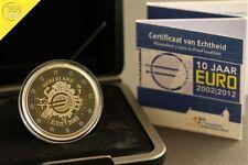 2 Euro Niederlande 10 Jahre Einführung Euro Bargeld  2012 PP Proof