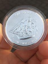 1 once Monnaie / pièces en argent 999 1 CID Cook îles Bounty Navire Bateau à