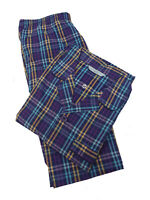 MARKS & SPENCER MENS COTTON BLEND CHECKED PURPLE  PYJAMAS SIZE SMALL  BNWOT