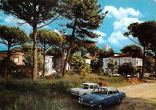 Cartolina Milano Maritima Riviera Adriatica ville nella pineta auto d'epoca 1966