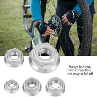 Bicycle Locknuts Race Ti Titanium Hex Head Flange Lock Nut for M5 M6 M8 M10 M14