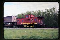 1973 GN Great Northern Caboose 10165, B&O Truck Trailer, Original Slide c23a