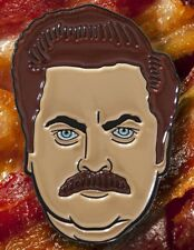 SWANSON PIN- DATA - RON SWANSON - PARKS AND RECREAT - PINTRILL - OBEY - PINGAME