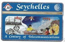 SEYCHELLES - 30 Unit CENTURY of COMMUNICATIONS 1893-1993  C. & W, Phone Card