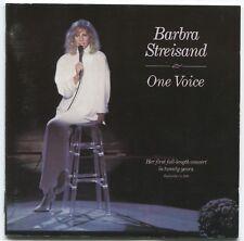 [BEE GEES / BARRY GIBB] BARBRA STREISAND ~ ONE VOICE ~ 1987 UK 13-TRACK CD ALBUM