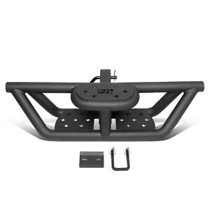 """J2 2"""" Receiver Pickup SUV Rear Bumper Guard Black Pleated Towing Tow Hitch Steps"""