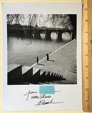 Edouard Boubat photograph 'Paris 1948' initialed (verso) w/ inscription (recto)