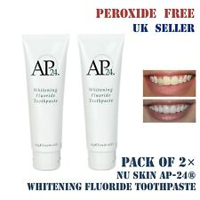 Pack of 2× NU SKIN AP 24 Whitening FLUORIDE Toothpaste 100% Genuine Non Peroxide