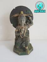 Buddha Warrior Aquarium Ornament Fish Tank Decoration Decor Thai Oriental Statue