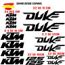 PEGATINAS VINILO ADHESIVO KTM DUKE 125 MOTO VINIL STICKER DECAL KIT DE 16 unds