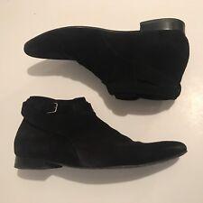 Saint Laurent Paris Jodhpur Chelsea Boot Black Suede 44.5 10.5 11.5 Slimane