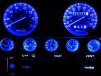 Jeep YJ Wrangler Blue LED Speedometer Gauge Cluster & Dash & Interior LED Kit