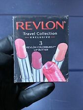 REVLON Travel Collection 3 Colorburst Lip Butter Peach Berry Strawbr 0.13oz/3.7g