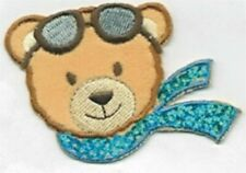 Teddy Bear Flying Ace Embroidery Patch