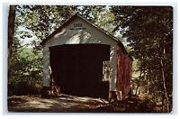 Postcard Zacke Cox Bridge, Bradfield Station, Indiana IN Rock Run C29