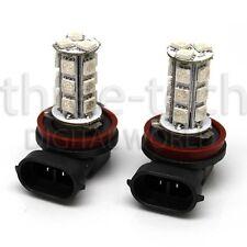 2x WHITE H11 18 SMD LED Light Bulbs Headlights Lamps DRL Fog Foglight