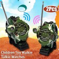 2X Outdoor Sport 7 In 1 Walkie Talkie Wrist Watch Interphone Intercom Set Toy