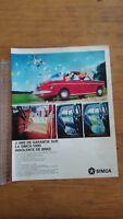 PUBLICITE ANCIENNE - PUB ADVERT - SIMCA 1000 - PARIS MATCH 1965