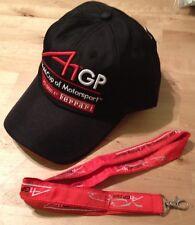 A1 GP Copa del Mundo de Motorsport Ferrari F1 Grand Prix Driver Cap BNWT + Cordón