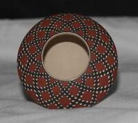 Mini Checkered Pot by Lore Soto, Mata Ortiz
