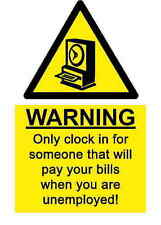 A5 Funny Workplace Time Clock Sticker - Waste Shedder Joke Health & Safety