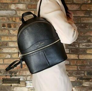 NWT Kate Spade Karina Medium Leather Backpack in Black AUTHENTIC NEW ZIPPER BAG