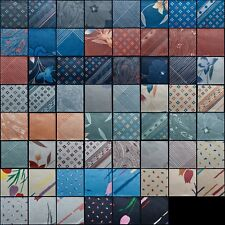 60 Vintage Designer Fabric Quilting Squares, 5 in. Charm Pack–Geometric & Floral