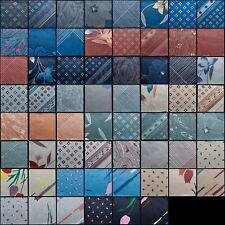 60 Vintage Designer Fabric Quilting Squares | 5'' Charm Pk | Geometric & Floral