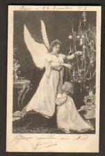 POUPEE & FILLETTE , ANGE DE NOEL  en 1902