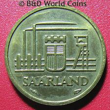 1954 SAARLAND 10 FRANKEN FACTORY GERMANY GERMAN REPUBLIC STATE WORLD COIN 20mm
