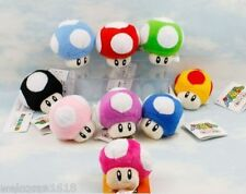 "9pcs/lot Super mario bros mushroom 2.5"" Stuffed plush doll toy figure cute"