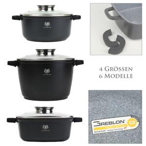 Bräter Aromaknopf Kochtopf Brattopf Topf Aluguss Induktion Granit Aromadeckel