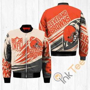 Cleveland Browns Pilot Bomber Jacket Flying Tigers Thick Warm Coat Team Apparel